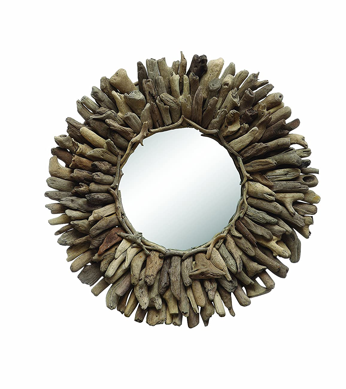 Creative Co-Op Round Driftwood Framed Mirror 0