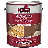 KILZ Over Armor Smooth Wood/Concrete Coating, 1 gallon, Chocolate Brown (Color: Chocolate Brown, Tamaño: 1 Gallon)