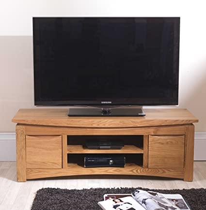 Crescent Solid Oak Furniture Plasma Television Cabinet Stand Unit