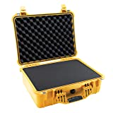 Pelican 1520 Camera Case With Foam (Yellow) (Color: Yellow, Tamaño: Pick N Pluck Foam)