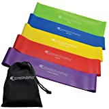 Resistance Bands for Legs and Butt by SmarterLife - Non-Latex Exercise Bands - Loop Bands for Workout, Fitness, Physical Therapy, Home Gym - 5 Band Set - Extra Wide to Prevent Rolling