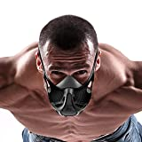 USPORT Training Mask for Elevation Breathing and Gym - High Altitude Endurance Low Oxygen Mask for Cardio Running Workout (Black Fury, M) (Color: Black Fury, Tamaño: Medium)