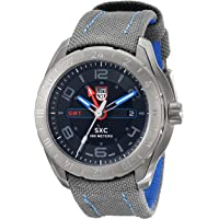 Luminox LUMINOX-5121-GN SXC Space GMT Grey Cordura and Blue Genuine Leather Men's Watch