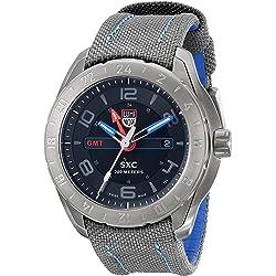 Luminox LUMINOX-5121-GN SXC Space GMT Grey Cordura and Blue Genuine Leather Men's Watch