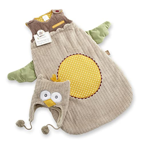 Baby Aspen Sack and Cap My Little Night Owl Snuggle 0-6 Months Beige