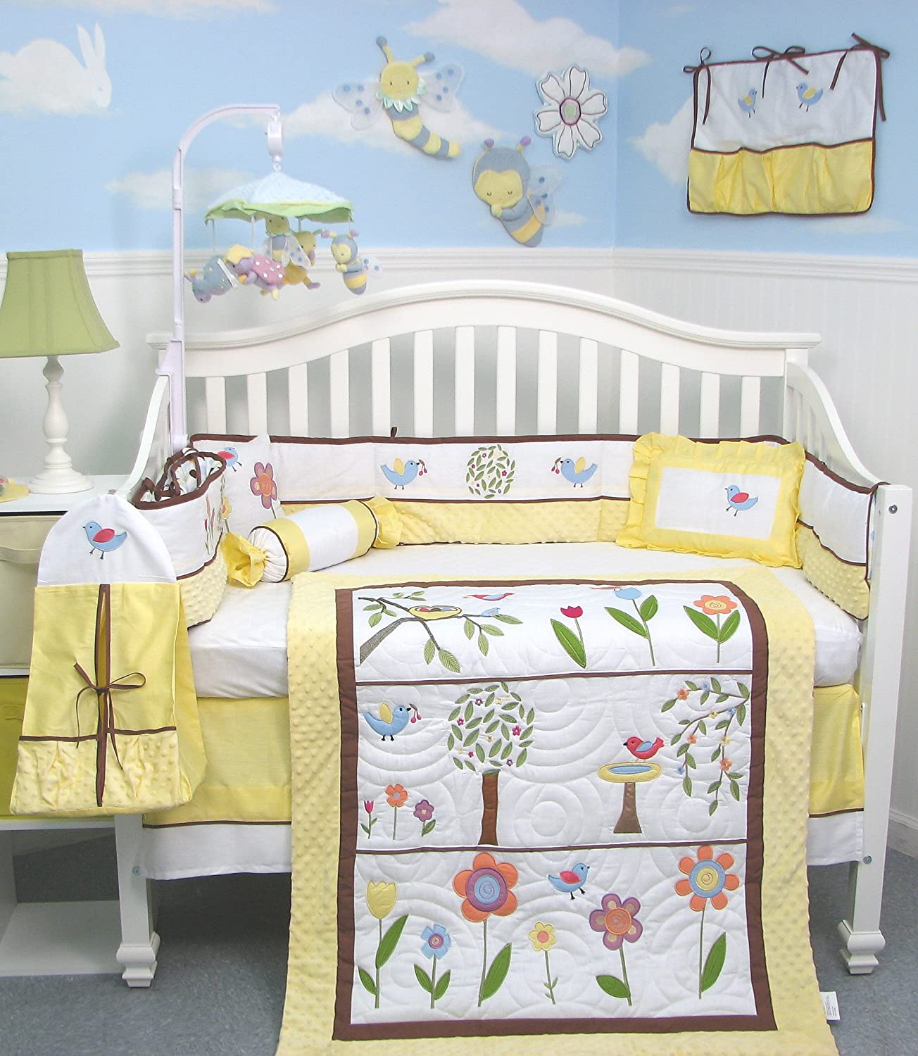yellow baby bedding. Black Bedroom Furniture Sets. Home Design Ideas