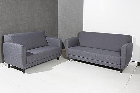 De alta calidad 2er sofá 2 plazas & - Juego de cable de 3 plazas de tela de colour gris y negro - diseño de - cojín de la esquina de sofá de