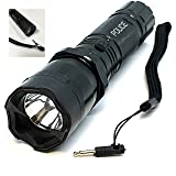 STUNSRUS Tactical Police 510 MV Stun Gun LED Triple Mode Flashlight with Disable Pin Rech