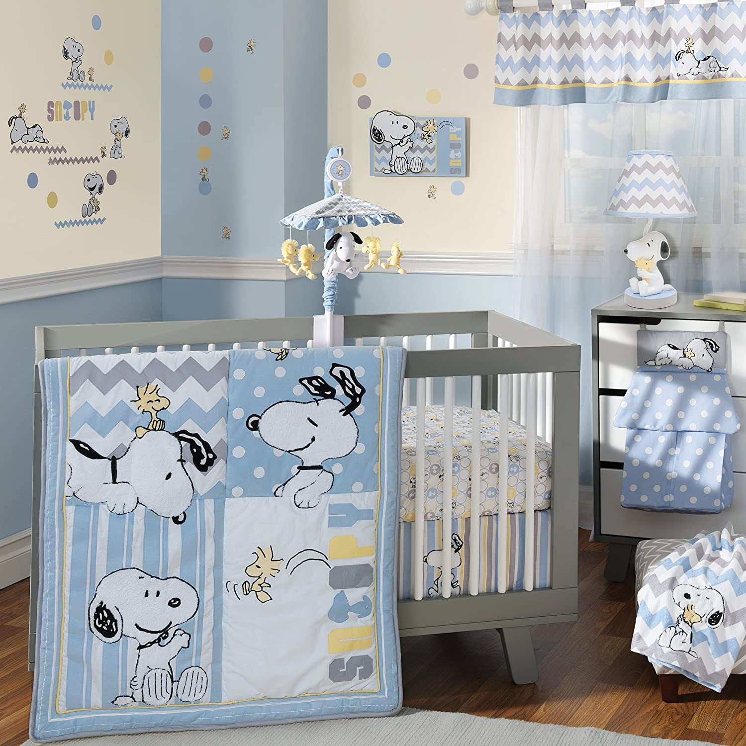 Lambs and Ivy My Little Snoopy Crib Bedding