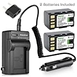 Kastar Battery (2-Pack) and Charger Kit for JVC BN-VF815, BN-VF815U and GZ-HD30 GZ-HD40 GZ-HD300 GZ-HD320 GZ-HM1 GZ-HM110 GZ-HM200 GZ-HM400 GZ-HM80 GZ-HM90 GZ-X900 GC-PX100 GC-P100 GC-PX1 GC-PX10