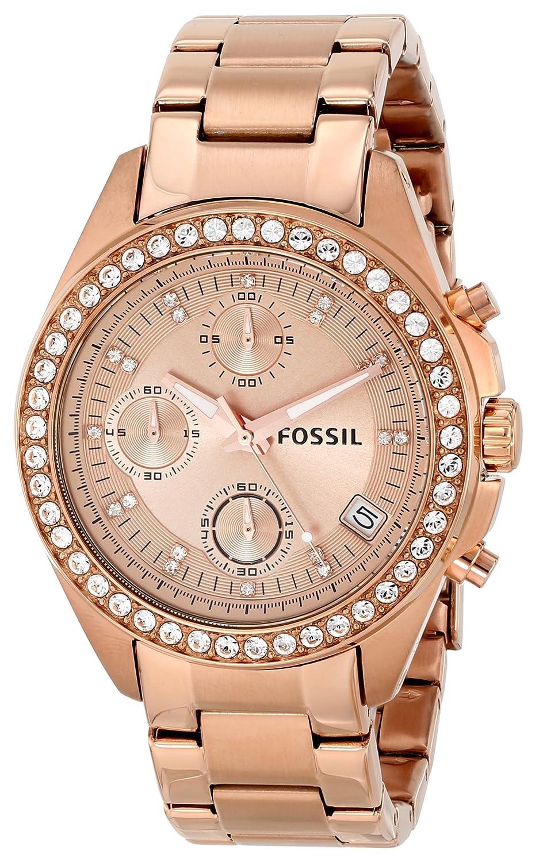 fossil es3352 decker chronograph rose gold stainless steel. Black Bedroom Furniture Sets. Home Design Ideas