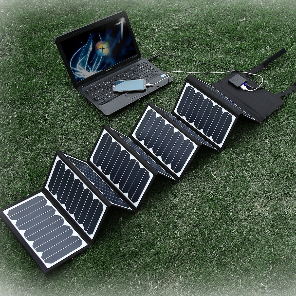 Poweradd High Efficient 60W Foldable Solar Panel Portable Solar Charger