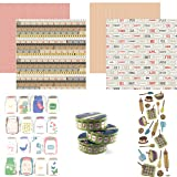 Country Kitchen Scrapbooking Kit | Cooking & Kitchen Collection Kit | Foam & 3D Stickers - Washi-Tape - 12 x 12 Cardstock Designer Paper | Homemade Scrapbook Supplies Kit