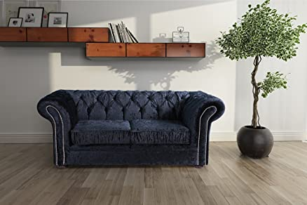Lovesofas Jackson divani Chesterfield 2 posti in velluto – nero