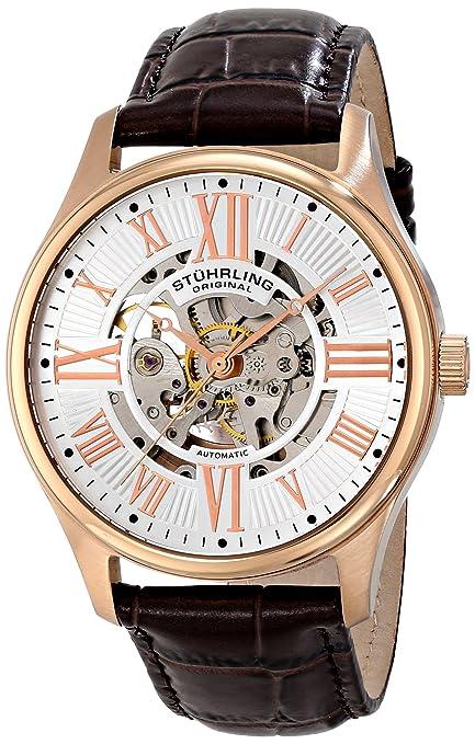 Stuhrling Original Men's 747.04 Classic Atrium Analog Display Automatic Self Wind Brown Watch: Amazon.ca: Watches