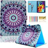 Galaxy Tab 4 10.1 Case,T530 Case,Dteck(TM) Slim Folio Stand Cover Case with Auto Wake/Sleep Feature Magnetic Smart Shell Case for Samsung Galaxy Tab 4 10.1 SM-T530NU T530 T531 T535,Blue Vintage (Color: #2 Blue Vintage)