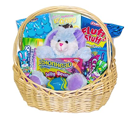 Easter Basket With Candy Candy Filled Easter Basket