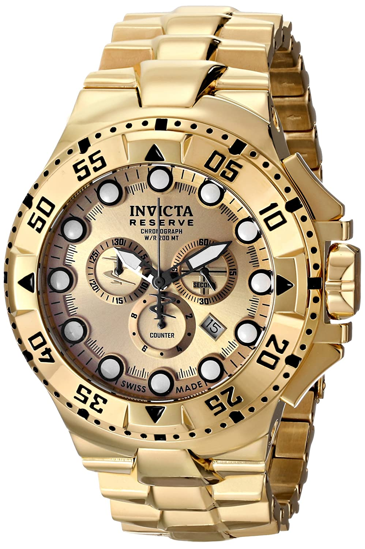 Invicta Men's 16681 Pro Diver Analog Display Swiss Quartz Gold Watch invicta часы invicta in20433 коллекция pro diver