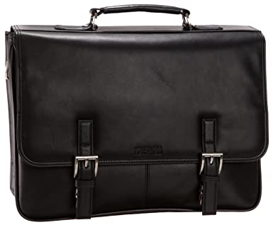 Kenneth Cole Reaction 524975 Luggage A Brief History Portfolio, Black, One Size