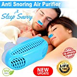 2-in-1 Anti Snoring Device - Snore Stopper Anti Snoring Nose Air Purifier - Snore Silencer Snoring Solution Nose Vents Plugs with Air Filter - Filters Air and Dilates Nasal Passage to Reduce Snoring