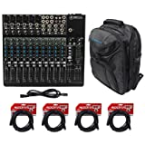Mackie 1402VLZ4 14-channel Compact Analog Mixer w/6 ONYX Preamps+Backpack+Cables