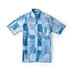 Short Sleeve Buttondown Shirt: Patchwork