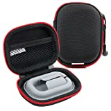 DURAGADGET Hard EVA 'Shell' Storage Case/Bag with Protective Silicone Padding Compatible with Flare Audio R2S Earphones (Color: Black)