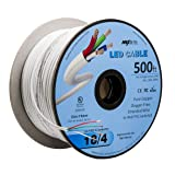 LED Cable 4 Conductor Jacketed In-Wall Speaker Wire UL/cUL Class 2 (500ft. Spool) (Tamaño: 500 ft. Spool)