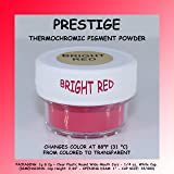 Prestige THERMOCHROMIC Pigment That Changes Color at 88°F (31 °C) from Colored to Transparent (Colored Below The Temperature, Transparent Above) Perfect for Color Changing Slime! (1g, Bright RED) (Color: BRIGHT RED, Tamaño: 1g)