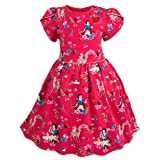 Disney Snow White Woven Party Dress for Girls Size 5/6 Red (Color: Red, Tamaño: 5-6)