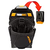 ToughBuilt - Drill Holster Specialist - Covered Accessory Pocket, 15 Pockets, 7 Drill Pockets & 2 Screw Driver Loops, Carabiner Attachments Loops (Patented ClipTech Hub & Work Belts) (TB-CT-20-LX) (Tamaño: Drill Holster Specialist)