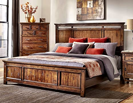 "Wolf Creek King Bed (83.5""W x 3""D x 58""H)"