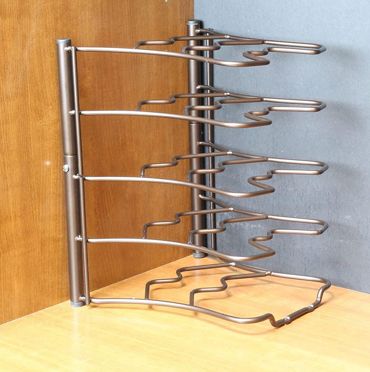 Deco Brothers Pan Organizer Rack, Bronze