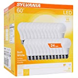 Sylvania Home Lighting 74765 A19 Efficient 8.5W Soft White 2700K 60W Equivalent A29 LED Light Bulb (24 Pack), Count (Color: Soft White, Tamaño: 24 Pack)