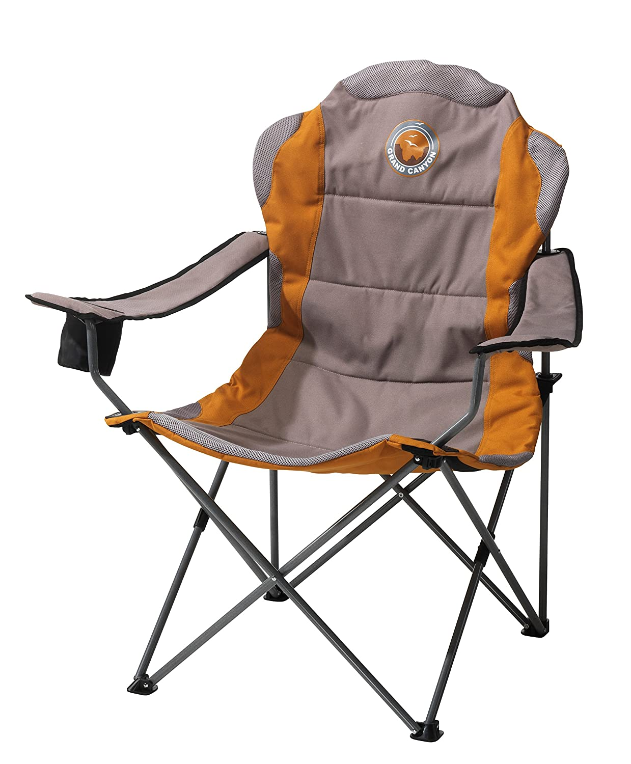 Grand Canyon Comfort, faltbarer Campingstuhl, Stahl, grau/orange, 308012