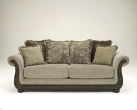 Gracie Anne Barley Collection Traditional Style Chenille Fabric Upholstered Sofa