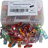 IEUYO 115PCS Sewing Clips , Multipurpose Craft Clips,Use As Paper Clips,Clothes Pins,Quilting Clips,Crafters,Knitting,Snap Clips,Blinding Clips And Many Other Application (Color: Assorted Colored, Tamaño: 115PCS + PP Box)