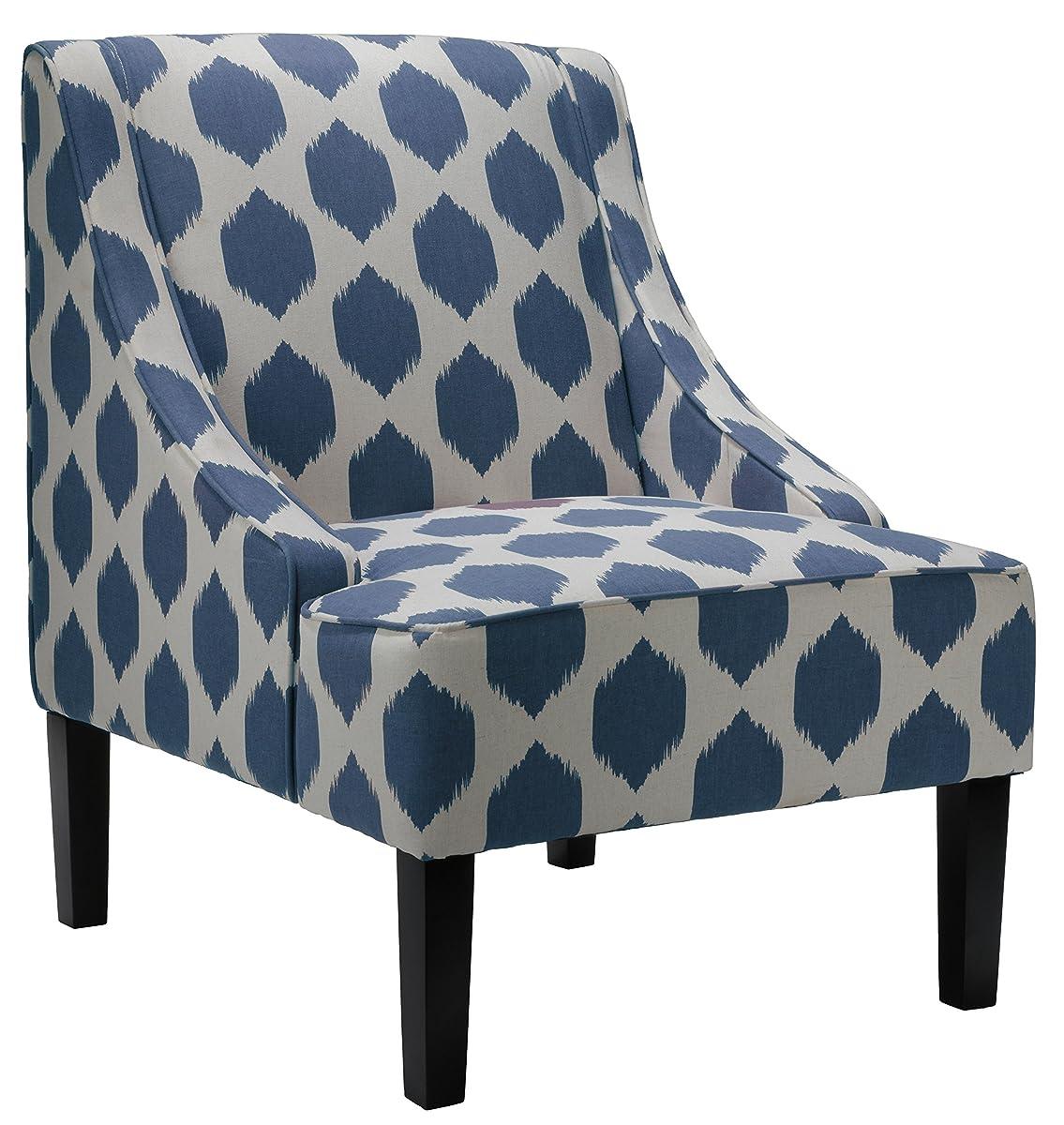 Cortesi Home Celene Accent Chair, Blue