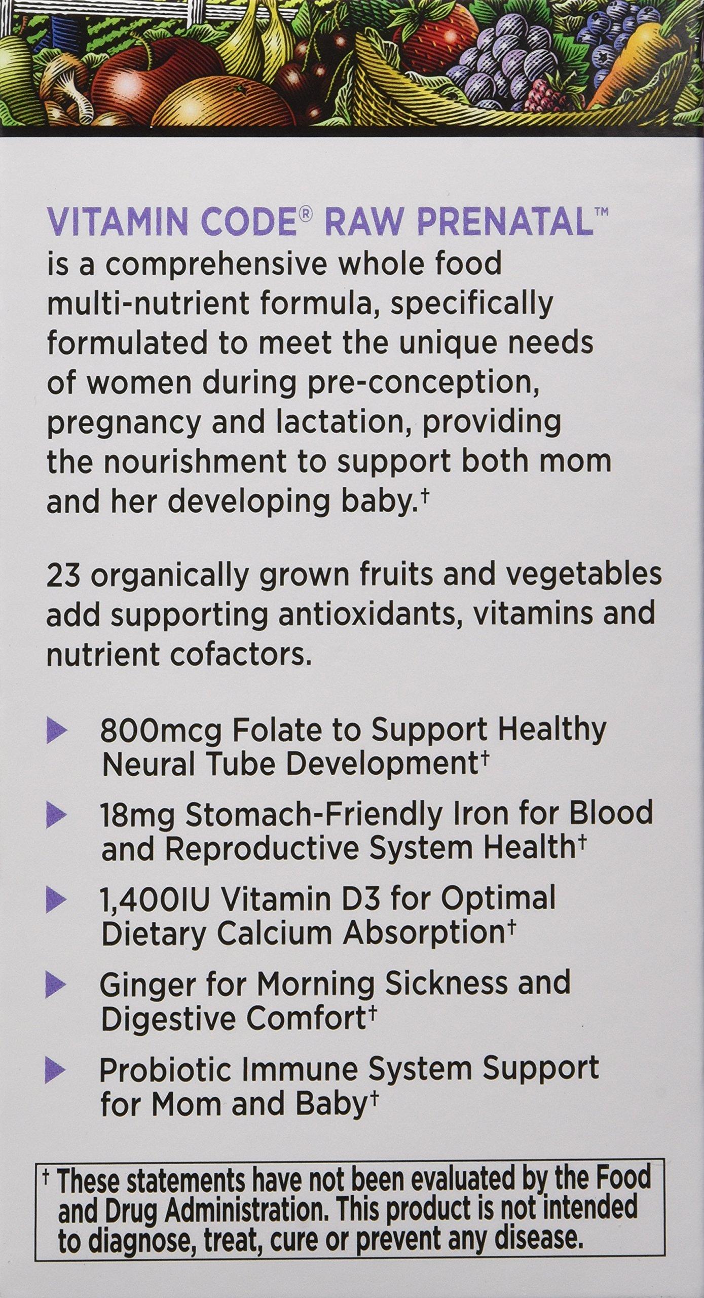 Galleon Garden Of Life Vitamin Code Raw Prenatal 180 Capsules