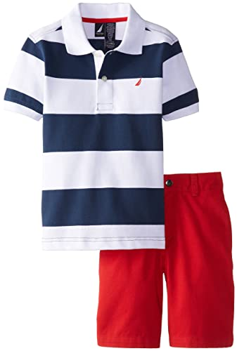 Nautica Little Boys' Two-Piece Striped Polo Shirt and