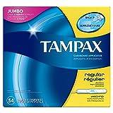 Tampax Cardboard Applicator Tampons, Regular Absorbency, 54 Count - Pack of 2 (108 Total Count) (Tamaño: 54)