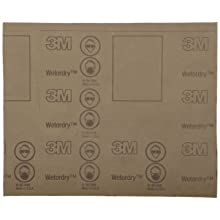 "3M Wetordry Paper Sheet 431Q, C Weight Paper, Silicon Carbide, 11"" Length x 9"" Width, 150 Grit (Pack of 50)"