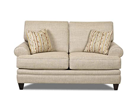 Klaussner Straw Fresno Loveseat, 70 by 40 by 40-Inch