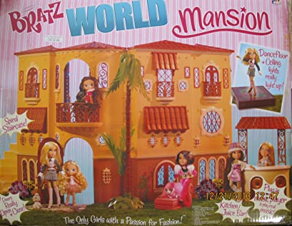 Amazon.com: MGA BRATZ World MANSION Dollhouse DOLL HOUSE w LIGHTS ...