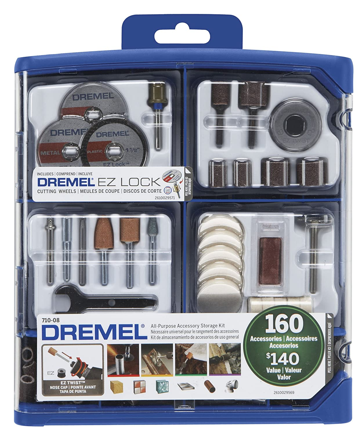 Dremel  All-Purpose Rotary Accessory Kit, 160-Piece
