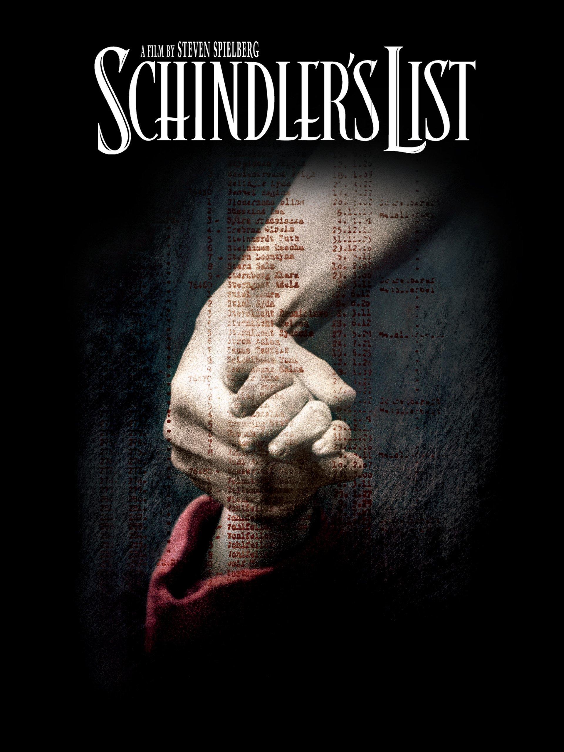 Schindler's List on Amazon Prime Video UK