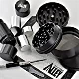 SILICONE ALLEY Herb & Spice Processing [PREP KIT] - Grinder (1) Nonstick Mat (1) Pick Tool (1) + Pollen Press [Aluminum] (1) (Color: Herb Prep Kit)