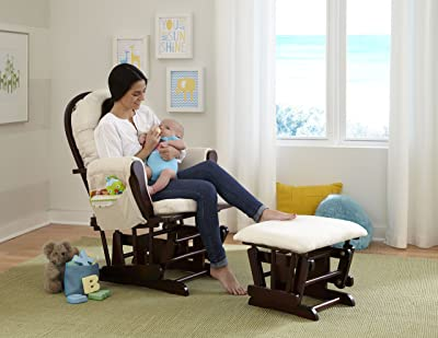 Nursery recliner chairs help me a lot in breastfeeding and while playing with my baby