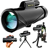 Monocular Telescope- 8x42 High Power HD with Smartphone Holder & Flexible Tripod- Waterproof FMC BAK4 Prism for Bird Watching, Camping, Hiking, Hunting- Adults & Kids- MOTREK