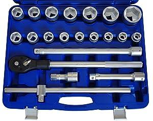 Steckschlüsselsatz 3/4 Chrom Vanadium 21 tlg Knarrenkasten LKW BUS Traktor  BaumarktKundenbewertungen